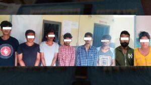 8 people arrested