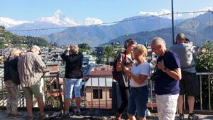 Tourist in Pokhara