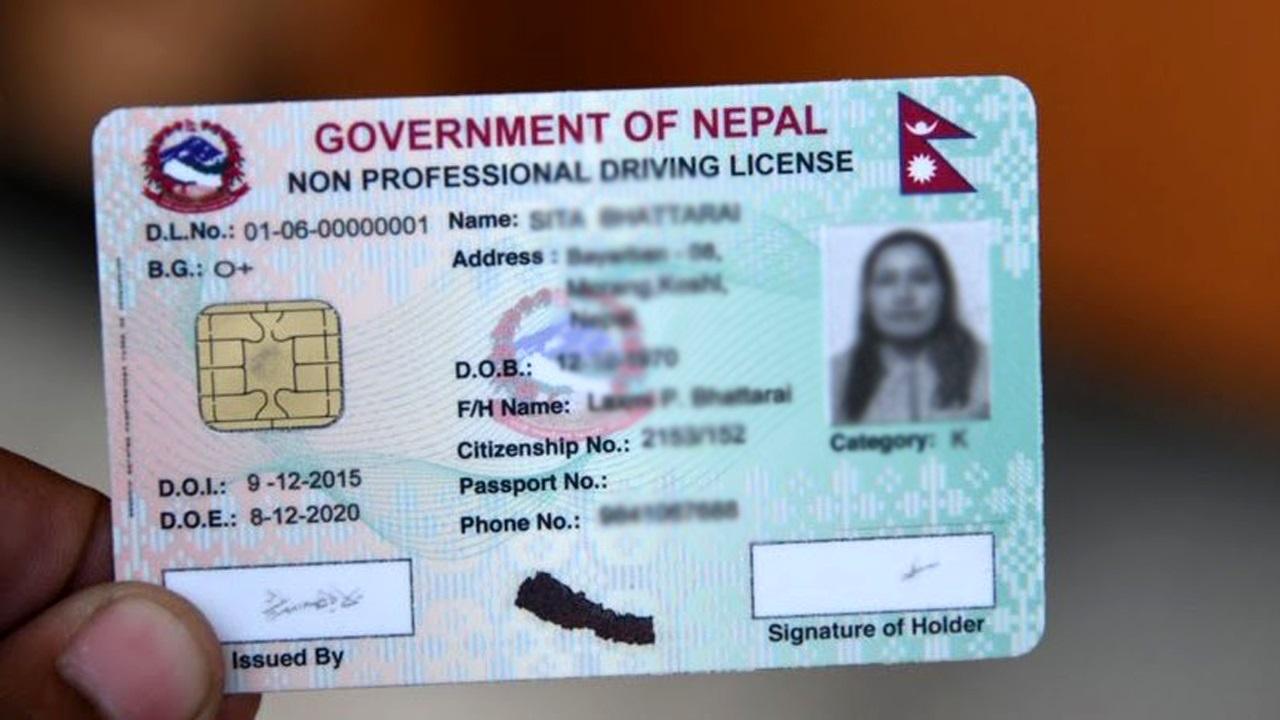 driving license nepal