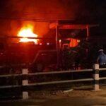 fire on petrol pump