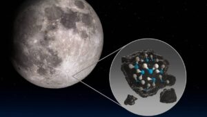 water found in moon