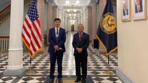 Tibetian leader enter white house
