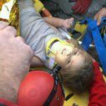 Turkey earthquake child resque