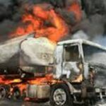 tanker burnt