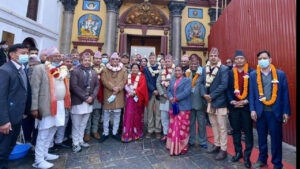 pm oli at pashupatinath