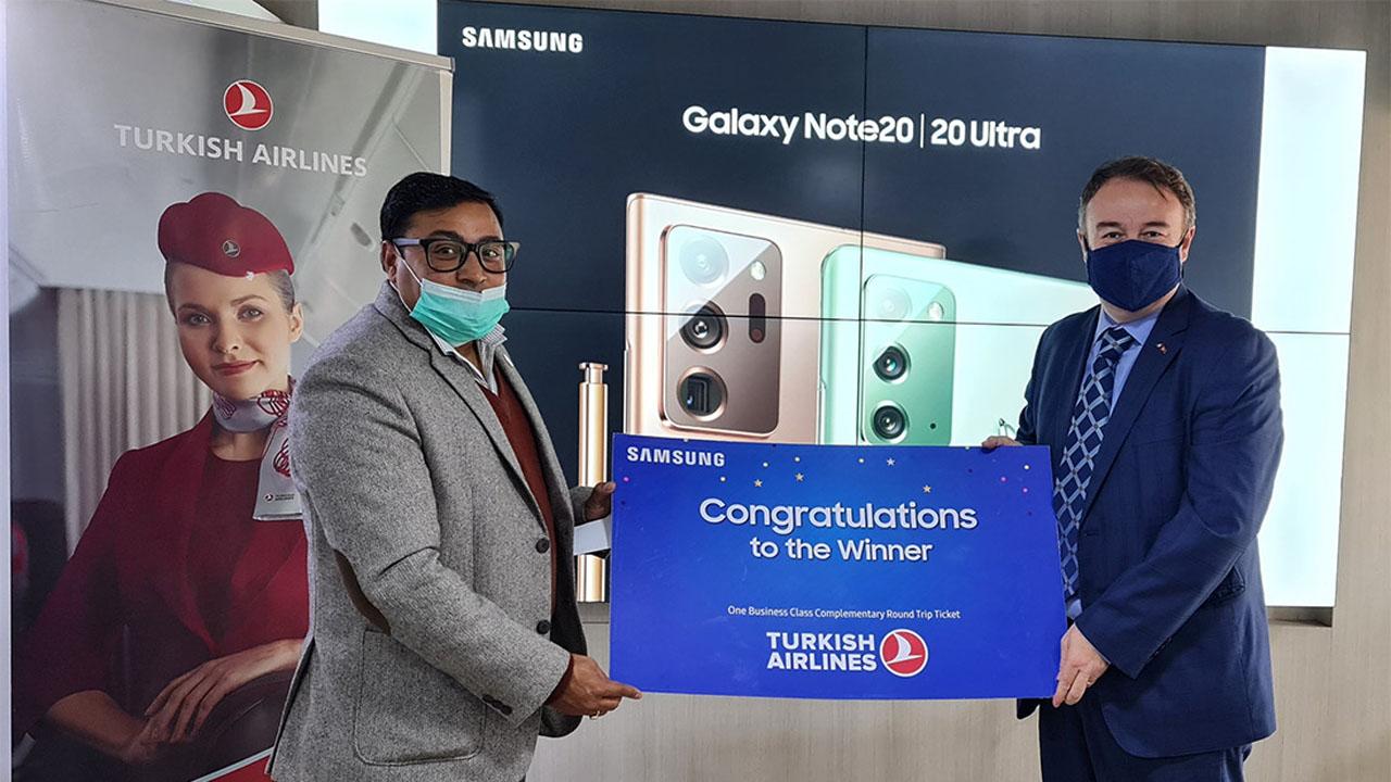 Samsung pre book winner