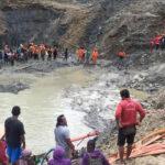 indonesia gold mine landslide