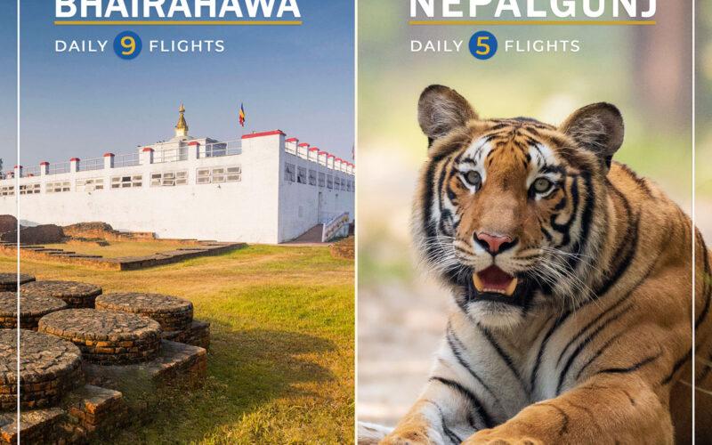 Bhairahawa Nepalgunj buddha air