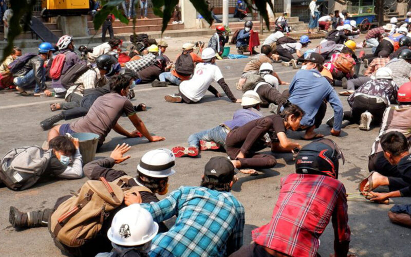 Manmar Protest against Coup