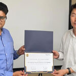 Mr Sandeep Sharda Receiving the Certificate