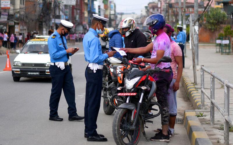 traffic check during holi