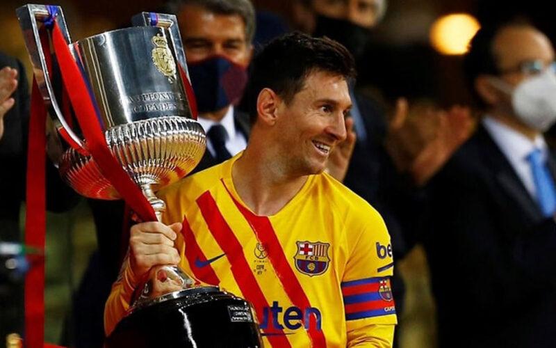 messi trophy
