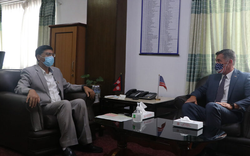 American Ambasdor with Janardan Sharma