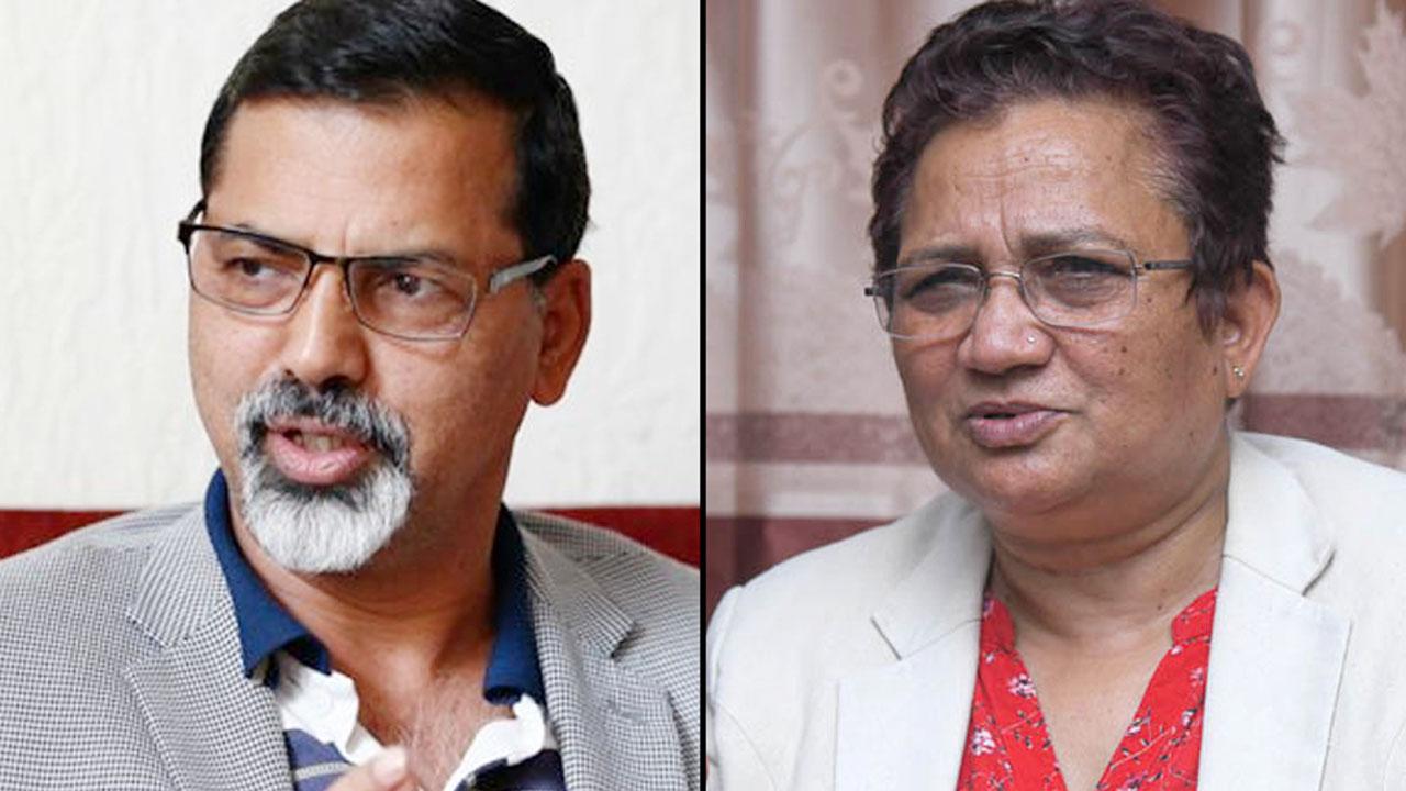 Janardan sharma and pampha bhusal