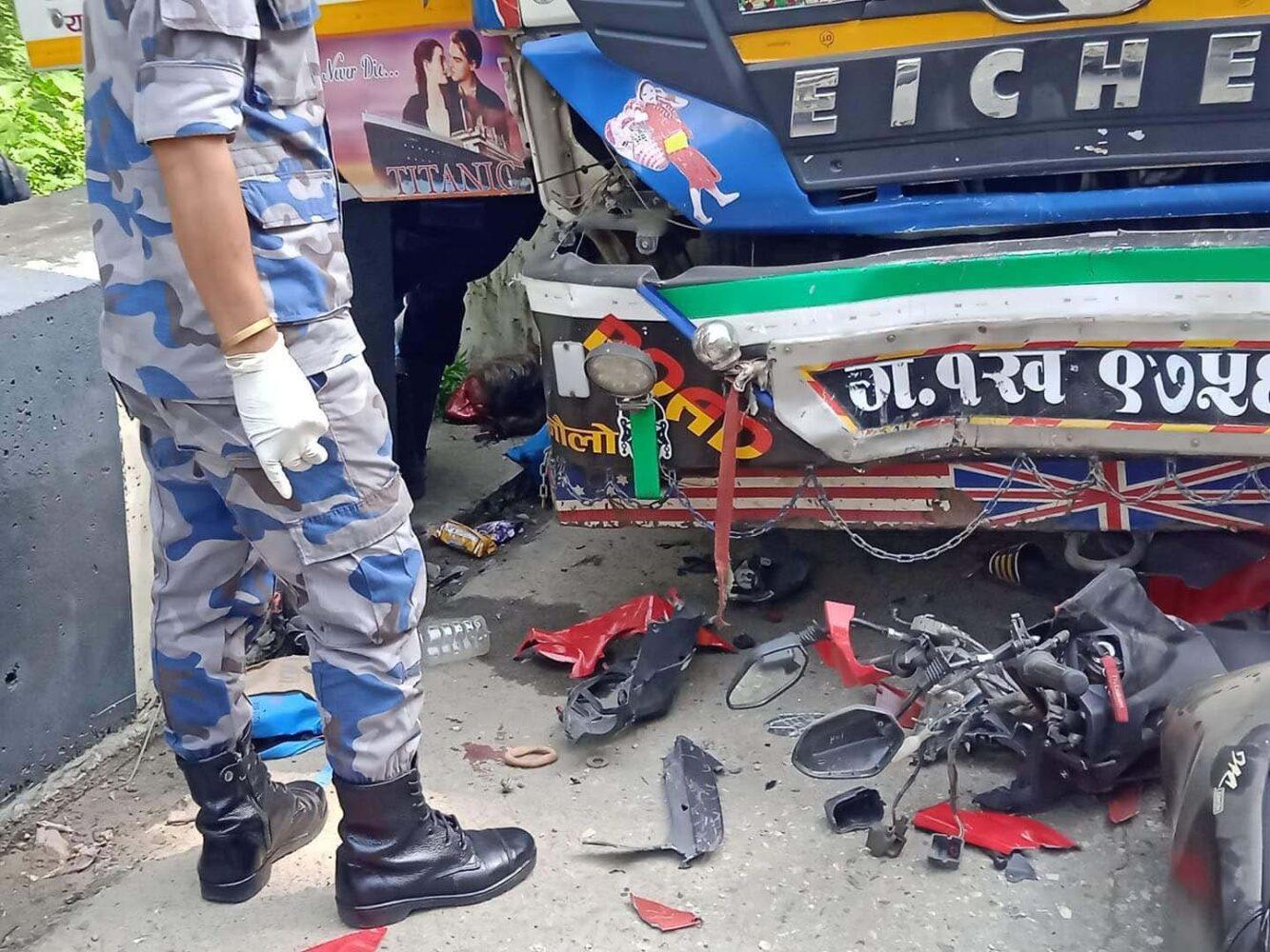 truck accident chitwan