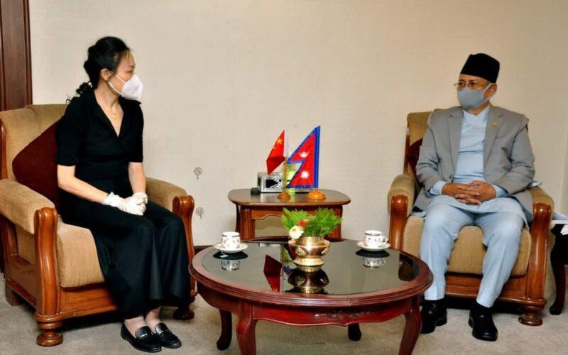 Chinese ambassdor with Balkrishna Khad